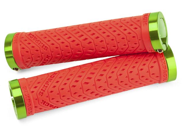 Sixpack K-Trix Grip Ø 31mm red/electric-green
